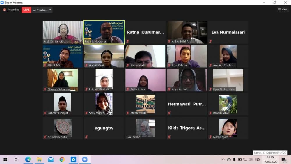 Sambut Mahasiswa Baru, Sastra Arab UNS  Selenggarakan Pelatihan Metodologi Bahasa, Sastra, dan Budaya Arab
