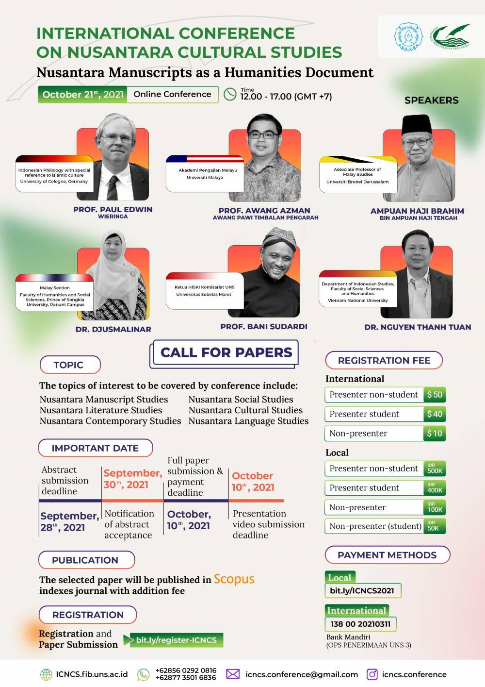 Riset Grup Filologi Melayu FIB UNS Akan Mengadakan Konferensi Internasional